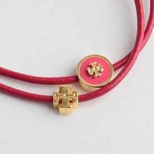 NEW Tory Burch Kira Enameled Slider Bracelet-PINK